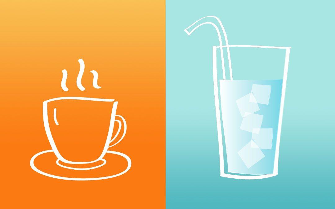 Priming-Effekt durch unterschiedliche Temperaturen.