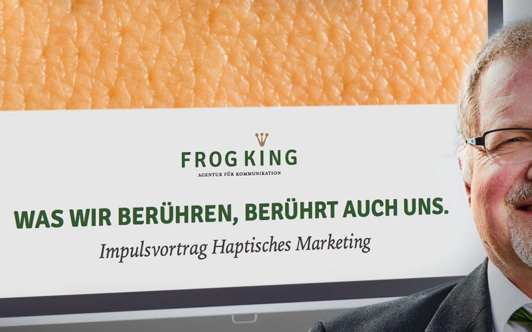 """Vortrag """"Haptisches Marketing"""" bei Unternehmerfrühstück"""