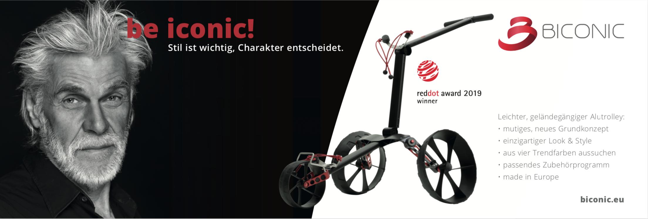 Image-Kampagne für neue Golftrolley-Marke BICONIC